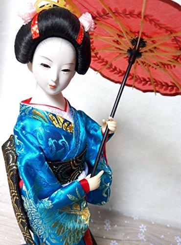 HANDMADE 30cm Asian Kabuki Geisha figurine Japanese, used for sale  Delivered anywhere in USA