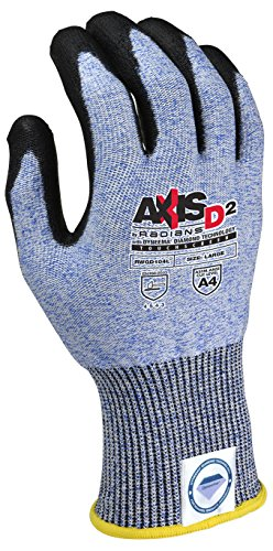 Radians RWGD104XL Axis D2 Cut Protection Level A4 Touchscreen Glove(12 Pack), Extra Large by Radians