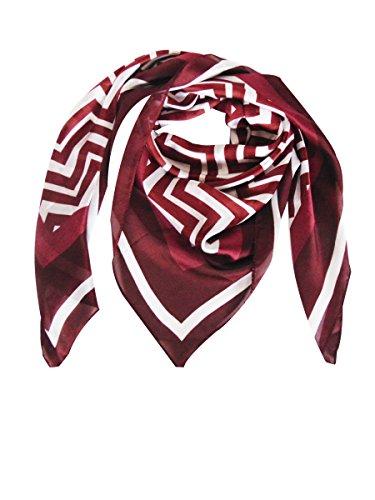 Deria Lightweight Square Scarfs for Women Elegant Silk Print Scarves (Stripe - Scarf Holiday Stripe
