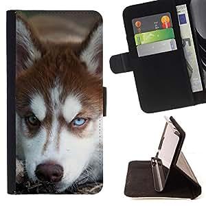 Stuss Case / Funda Carcasa PU de Cuero - Malamute de Alaska perro del husky siberiano - MOTOROLA MOTO X PLAY XT1562