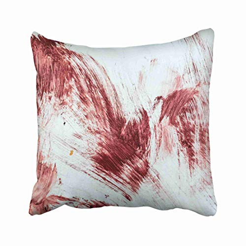 Emvency Red Floor Blood and Bloody Marks in Old Bathtub Halloween Horror Abstract Bath Black Covered Crime Dark Throw Pillow Covers 20x20 Inch Decorative Cover Pillowcase Cases Case Two Side -