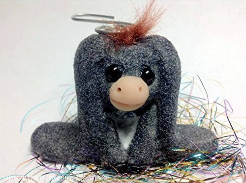 Donkey Ornament Christmas (OOAK Handmade Donkey Ornament, inspired by Nestor The Long Eared Donkey Nativity, Christmas)