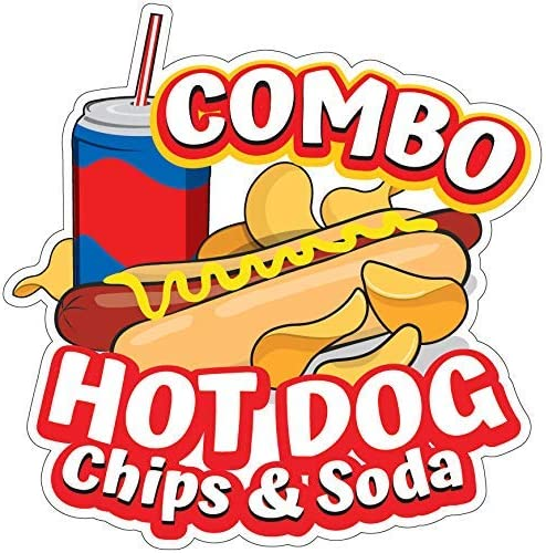 Choose Your Size Food Truck Concession Sticker All Beef Hot Dogs DECAL