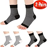 Compression Foot Sleeve for Men & Women Boys Girls, Ankle Sleeve Plantar Fasciitis Pain Relief, Heel Pain, and Treatment for Everyday Use with Arch Support by HNTTGG