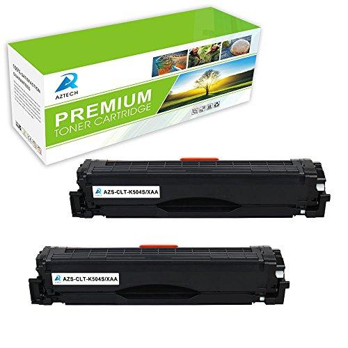 Aztech 2 Pack Replaces Samsung CLT-K504S Black Toner Cartridge For Samsung CLP-415N Xpress SL-C1860FW SL-C1810W Printer