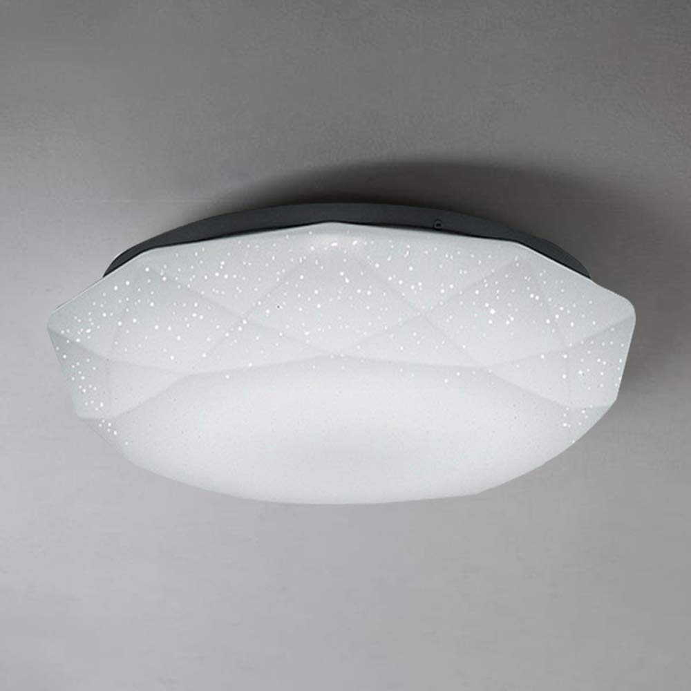 12W LED Flush Mount Ceiling Light,Diamond Design Lamp Waterproof IP44,10 inch/Ø 26cm,950 LM, Fitting Lighting for Living Room, Bathroom, Bedroom, and Dining Room with 4000k Color Temperature Guo