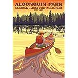 Algonquin Provincial Park - Ontario, Canada (12x18 Art Print, Wall Decor Travel Poster)