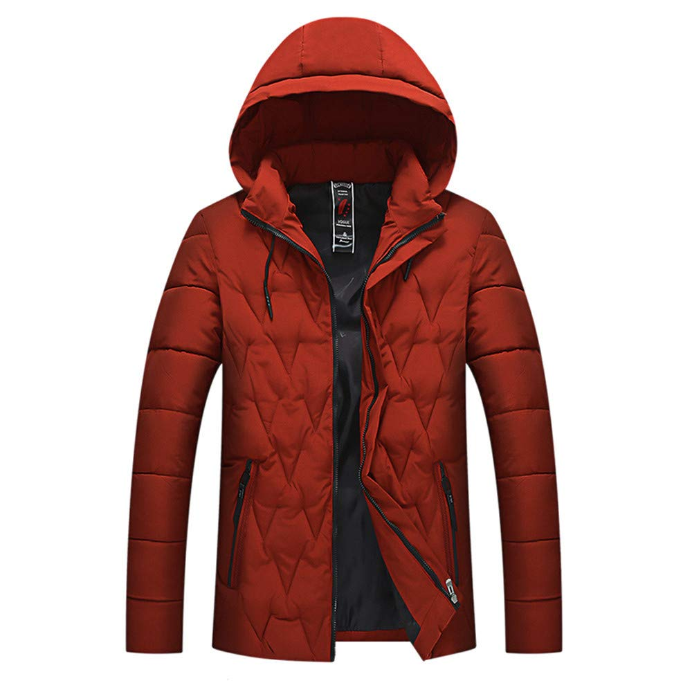 Allywit Mens Winter Zipper Cotton Blouse Thickening Coat Pullover Outwear Top Blouse