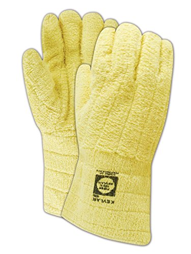 - Jomac By Wells Lamont 636KCL Cotton-Lined Kevlar Terrycloth Heat Resistant Gloves, Terrycloth, X-Large, Yellow
