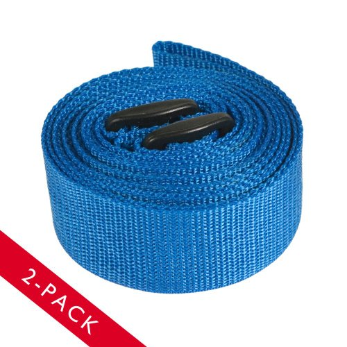 2pk Effortless 9ft Adjustable Yoga Stretching Strap (Blue)