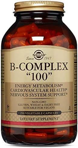 """Solgar – B-Complex """"100"""", 250 Vegetable Capsules"""