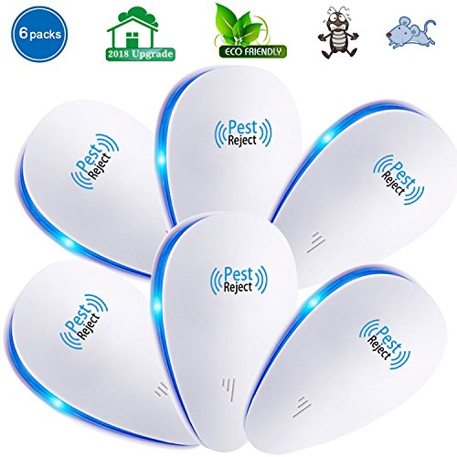 VNEED Ultrasonic Pest Repeller (6-Pack) – Electronic & Ultrasound, Indoor Plug-In Repellent | Anti Mice, Insects, Bugs, Ants, Mosquitos, Rats, Roaches, Rodents - Control(6 packs)