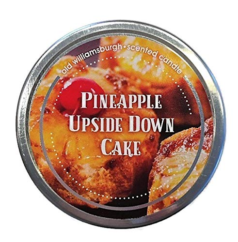 Pineapple Upside Down Cake Scented Mini Mason Jar Candles 3 Ounces | Old Williamsburgh | Set of 2]()