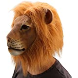 Ylovetoys Head Mask Lion Mask Novelty Halloween Christmas Easter Costume Party Masks Funny Latex Animal Head Mask (Lion)
