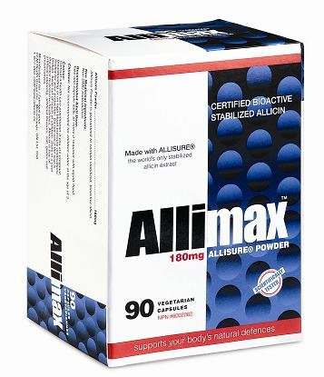 Allimax International Limited Allimax Vegicaps, 180 mg, 90 Count by Allimax International (Image #1)