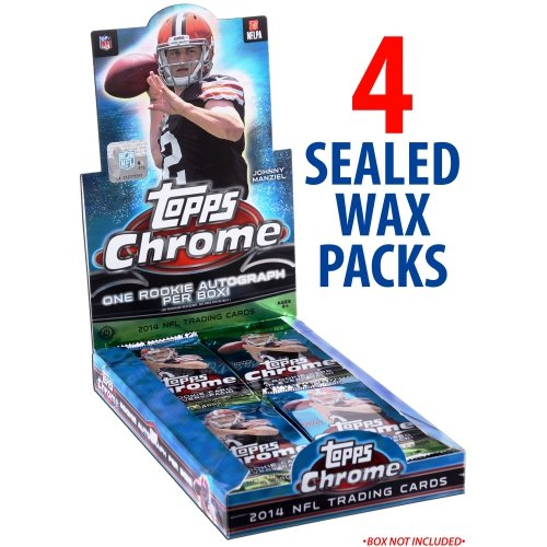 (Fanatics Authentic 2014 Topps Chrome Football Factory Sealed 4 Pack Lot)