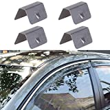 vmree 4PCS Car Wind Rain Deflector Fitting Clips Replacement for Heko G3 (Sliver)
