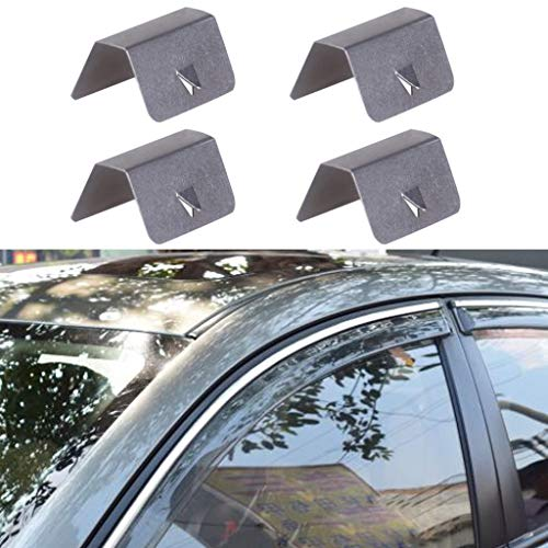 vmree 4PCS Car Wind Rain Deflector Fitting Clips Replacement for Heko G3 (Sliver) by vmree (Image #6)
