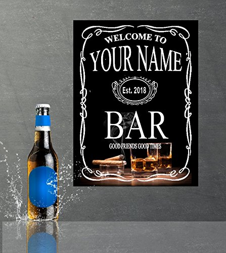 Personalised pub sign, mancave,gift Funny, Jack Daniels, retro, bar ...