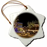 3dRose orn_95169_1 Washington, Leavenworth, Christmas Holiday Lights-US48 BJA0279-Jaynes Gallery-Snowflake Ornament, Porcelain, 3-Inch