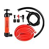 Universal 3-in-1 Hand Fuel Pump Kit - Liquid Transfer/Siphon Hand Pump - For Gas, Oil, Air, & Other Fluids - Use In Case Of Emergency