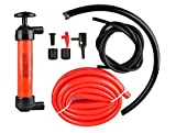 emergency gas can - Universal 3-in-1 Hand Fuel Pump Kit - Liquid Transfer/Siphon Hand Pump - For Gas, Oil, Air, & Other Fluids - Use In Case Of Emergency