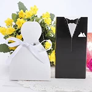 Wedding Gift Boxes Amazon : ... Wedding Bridal Party Favor Candy Box Gift Boxes: Kitchen & Dining