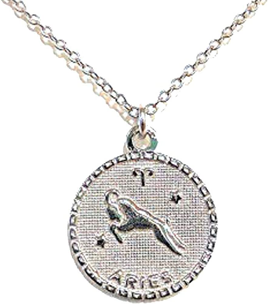 Aries Skys Jewels Sterling Silver Zodiac Pendant Necklace 16-18 Adjustable Astrology Necklace
