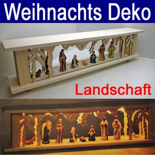 LED Decoración 57 cm, de madera, las luces de Navidad ventana diseño de paisaje (LHS): Amazon.es: Hogar