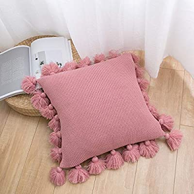 Amazon.com: famibay Knitted Pillow Covers Decorative Warm ...