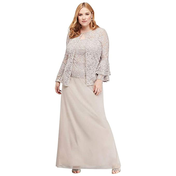 Bell Sleeve Glitter Lace Plus Size Jacket Mother Of Bride