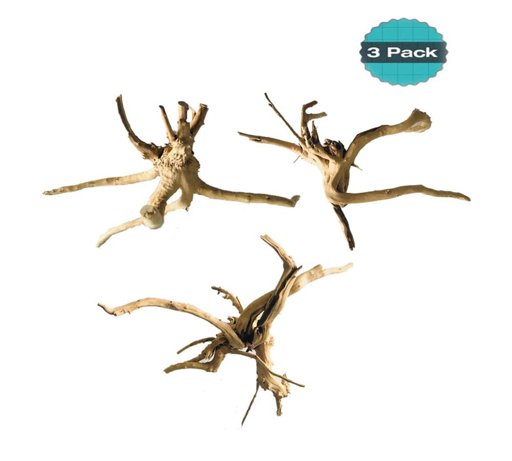 Hamiledyi Driftwood for Aquarium Reptiles Spider Wood Branches Natural Trunk Driftwood Tree Fish Tank Decoration 3 PCS by Hamiledyi