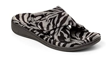 13605543f62 Orthaheel Women s Relax Slipper (Size 5 Dark Grey Zebra)