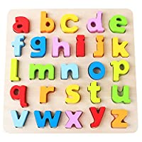 Babe Rock Number and Alphabet Puzzles Peg Board Educational Learning Toys for Toddlers Childrens Kids