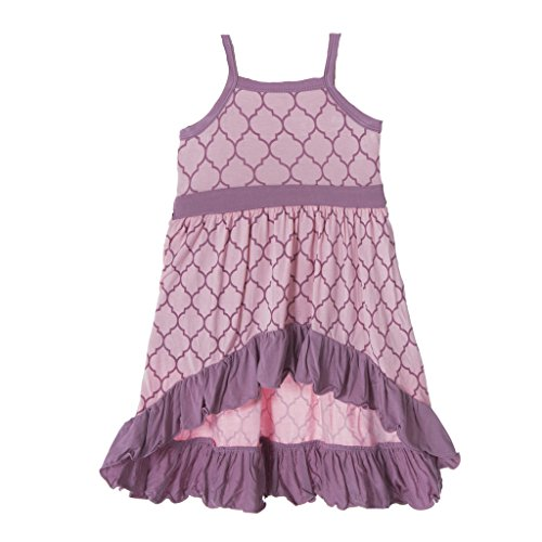 KicKee Pants Little Girls Print Hi Lo Maxi Dress, Garden Gate Lattice, 7 years