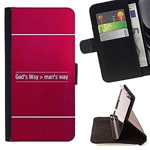 Momo Phone Case / Flip Funda de Cuero Case Cover - BIBLIA DE DIOS Camino> Hombre de Way; - Apple Iphone 5 / 5S