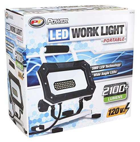 Performance Tool W2402 2,138LM Wide Angle SMD LED Work Light (200W Equivalent, 6ft Cord with Insulated On/Off Switch, Stand Industrial Working Light for Workshop, Construction Site and Garage by Performance Tool (Image #1)