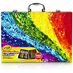 Crayola Inspiration Art Case: Art Tools, 140 Pieces, Crayons, Colored Pencils, Washable Markers, Paper, Portable Storage (Styles May Vary)