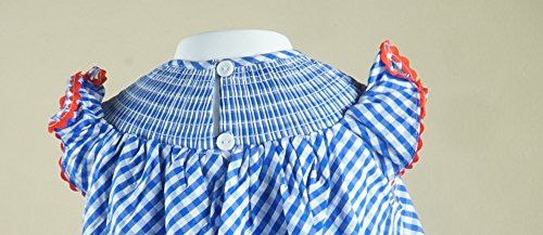 Boutique Clothing Girls USA America Flag Red White Blue Classic Bishop Dress 4T by Angeline (Image #2)