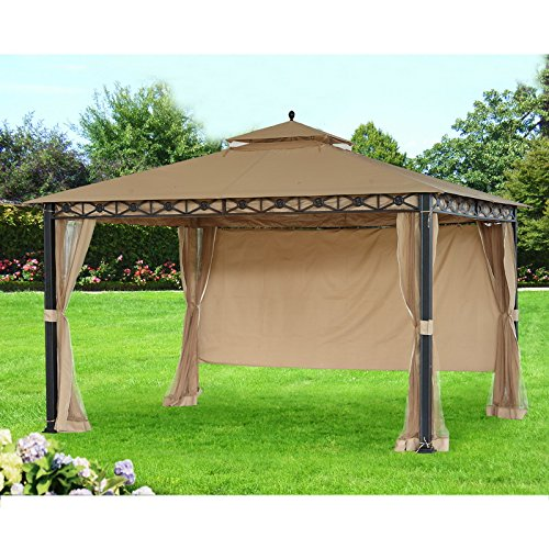 Sunjoy Replacement Canopy (Deluxe Fabric) for 10x12ft Smith and Hawken Gazebo (Patio Hawken Smith)