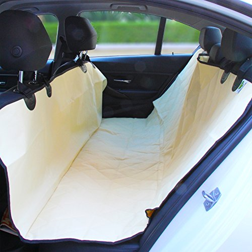 Pet Magasin Luxury Pet Seat Cover for Car Seats - Hammock Style Cover Protects Car Back Seats from Dog Fur Mud Scratches