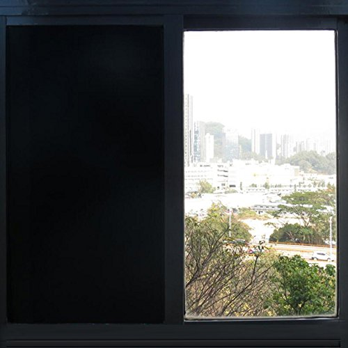 HOHO Opaque Black Privacy Glass Window Film Door Solar Tint for Home Office D¨¦cor 60''x98ft Roll by HOHO