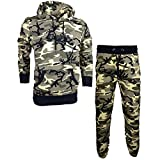 Franklin & Marshall MF304 Hooded Neck Tuta Fleece Camo Tracksuit M Classic camo
