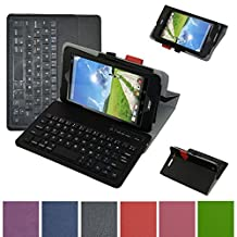 """Acer Iconia ONE 7 B1-750 Bluetooth Keyboard Case,Mama Mouth Coustom Design Slim Stand PU Leather Case Cover With Romovable Bluetooth Keyboard For 7"""""""" Acer Iconia ONE 7 B1-750 Android Tablet,Black"""