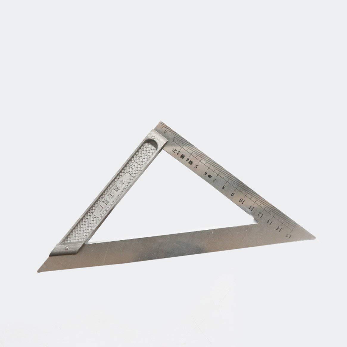 Regla de triá ngulo de 150 mm Herramienta de medició n de carpinterí a profesional de 90 grados de acero inoxidable grado triangular Ruller - Plata 150 mm Delicacydex