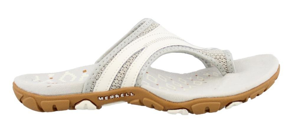 Merrell Women's, Sandspur Delta Flip Thong Sandals White 8 M