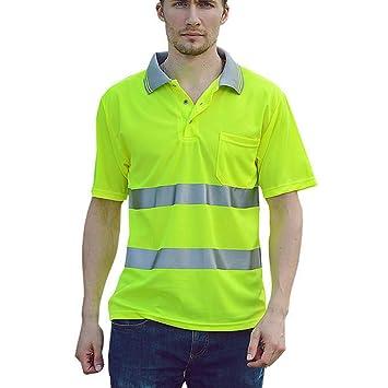 Camisa de seguridad de alta visibilidad, polo de trabajo ...