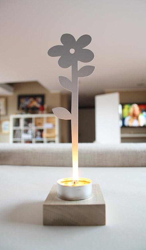 Jardín Cosas Daisy Soporte para Incienso, diseño de Flores, Acero, Color Blanco, 30 x 30 x 22 cm: Amazon.es: Hogar
