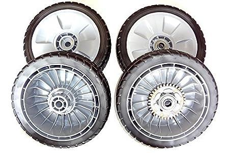Fabricante original honda cortacésped ruedas Set, completa: 44710 ...