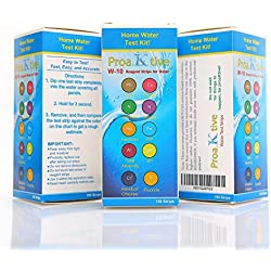 Swimming Pool and Drinking Water Test Kit- for Well Water, Pools, Spas, Aquarium–Tests: Chlorine-Lead-Iron-Copper-Total Hardness-Fluoride & More–MEGA kit (150 Test)! Results in 30 Second!